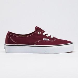 vans shoes burgundy authentic core classic canvas sneakers