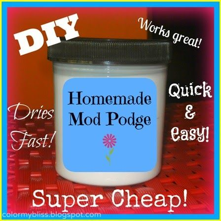 DIY Mod Podge this glue-water mix works great. I have used it loads of times myself :)