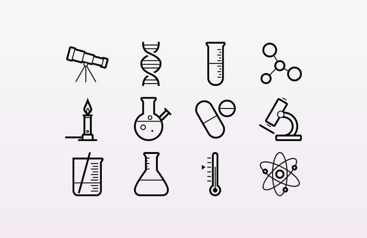 Science icons by @Medialoot ! These outlined stroke icons are for physics, chemistry and astronomy. I'm trying really hard to avoid using science puns, so let me just share the link before I say anything silly