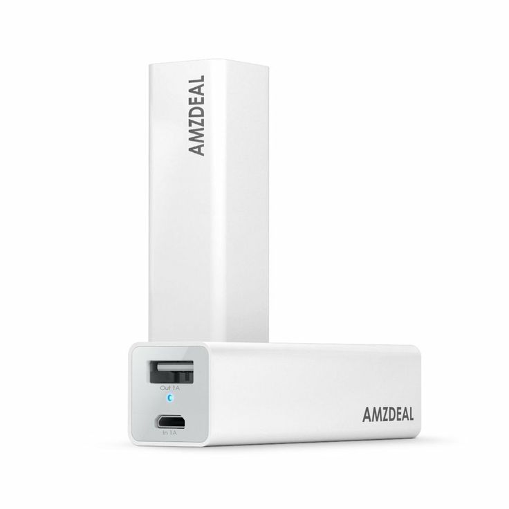 Amzdeal Pure-Mini 3200mAh Power Bank External Battery Charger for most Smart Phones - Pure White