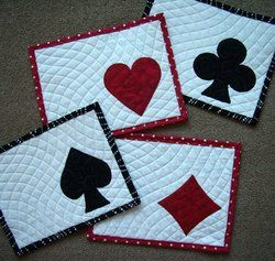 Shop | Category: Accessories (Potholders, Placemats etc.) | Product: Card Party Mug Rugs Project