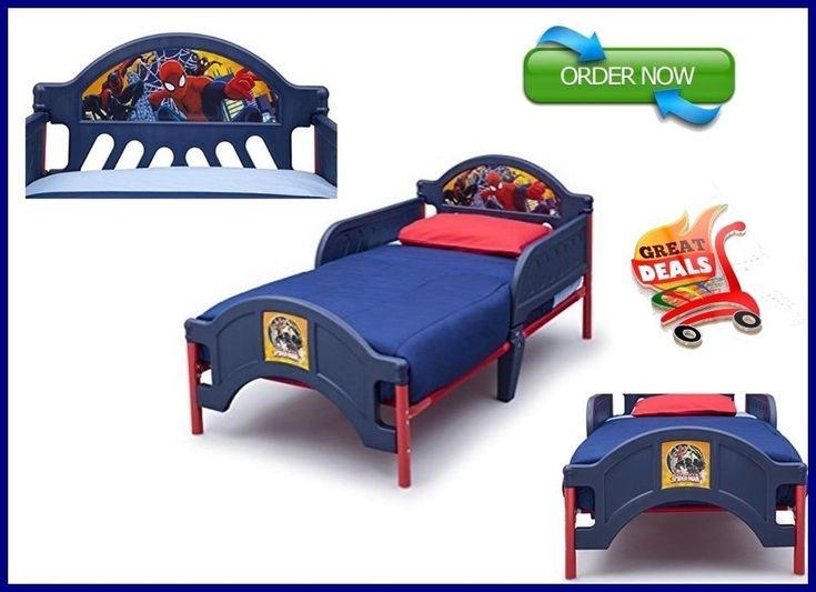 Toddler Bed Frame Boy Bedroom Furniture With Rails Beds For Boys Kids Spider Man