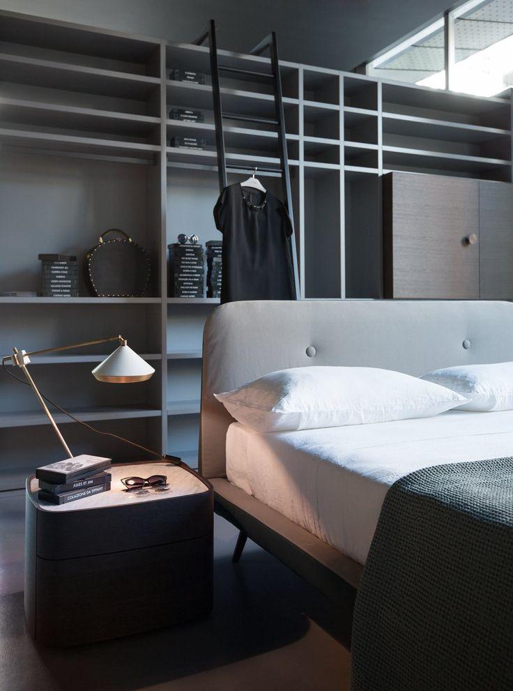 """A house should never be without a tiny place."" #EdoardoGherardi #novamobili #interiordesign #bedroom"