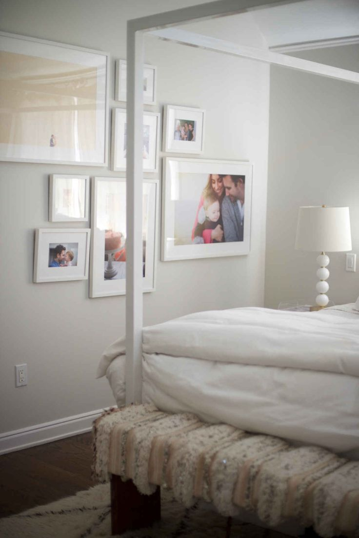 Make your bedroom feel warmer with a gallery wall of your favorite family  photos   Via. 221 best Bedroom images on Pinterest   Bedroom dressers  Home