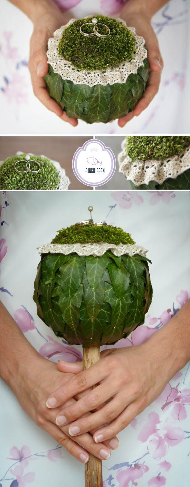 Lina Oehri, A very special Bouquet that is also Ring Bearer Pillow. Truly beautiful.