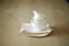 Love these disposable tableware by Wasara! Super eco-friendly and looks so modern!!