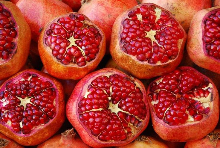 pomegranates . super food . we called them Indian apples when I was growing up