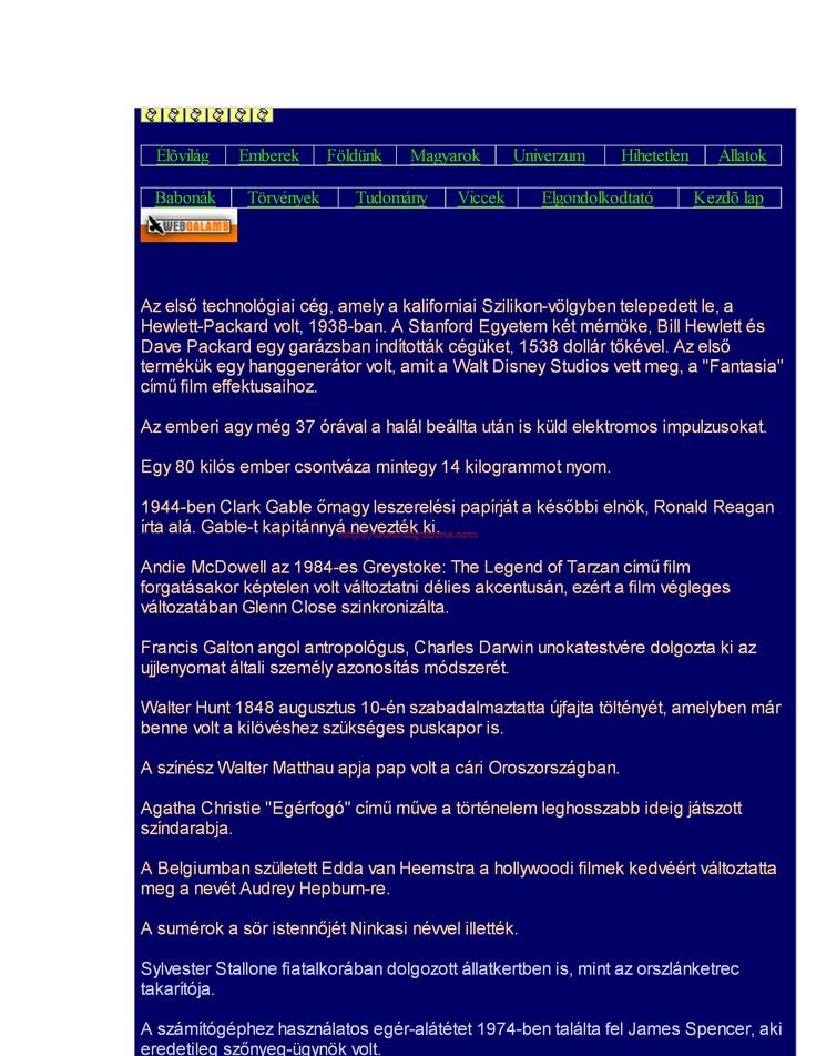 TUDTADE?...EMBEREK Periodic table, Screenshots