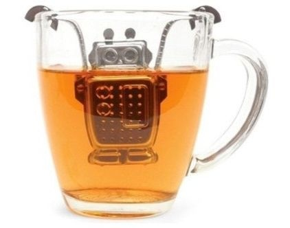 The robot tea infuser's arms and hands custom fit any mug and, and it comes with a drip tray. 'Tea Time' made fun again. Amazon