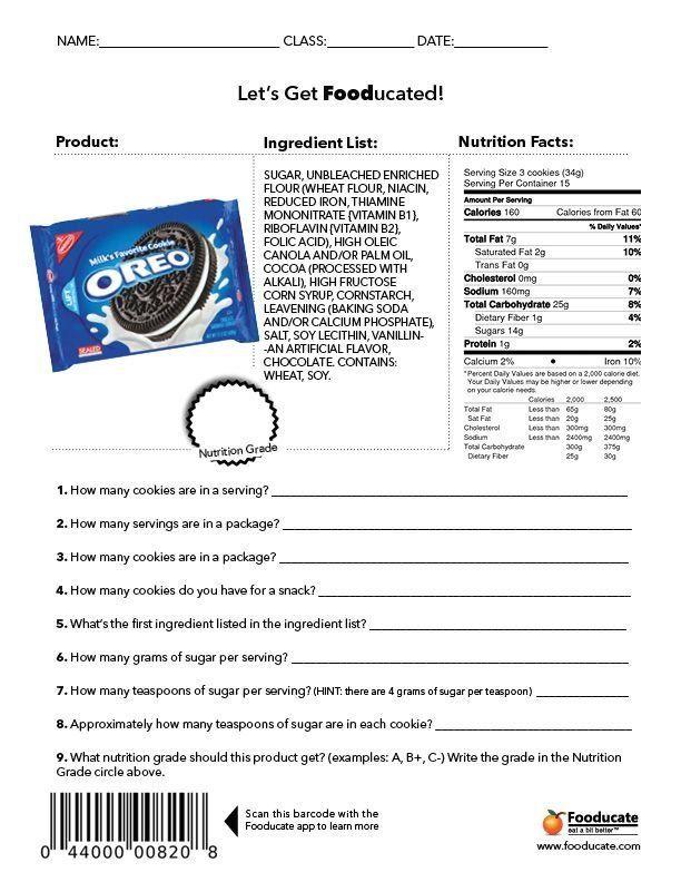 Fun Nutrition Worksheets for Kids   Modern Design ...