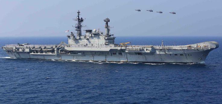 ins viraat aircraft carrier warship Wallpapers HD / Desktop and