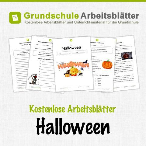 Kostenlose Arbeitsblätter und Unterrichtsmaterial zum Thema Halloween in der Grundschule.