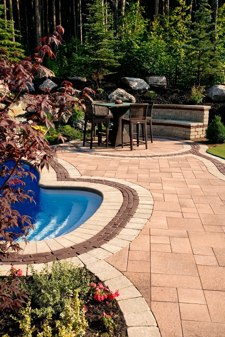 Pool deck by Unilock with Umbriano and