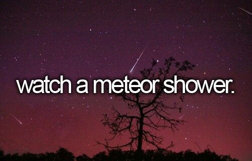Saw my first meteor shower tonight. It was beautiful. It's in full swing for the next 24hr don't miss it