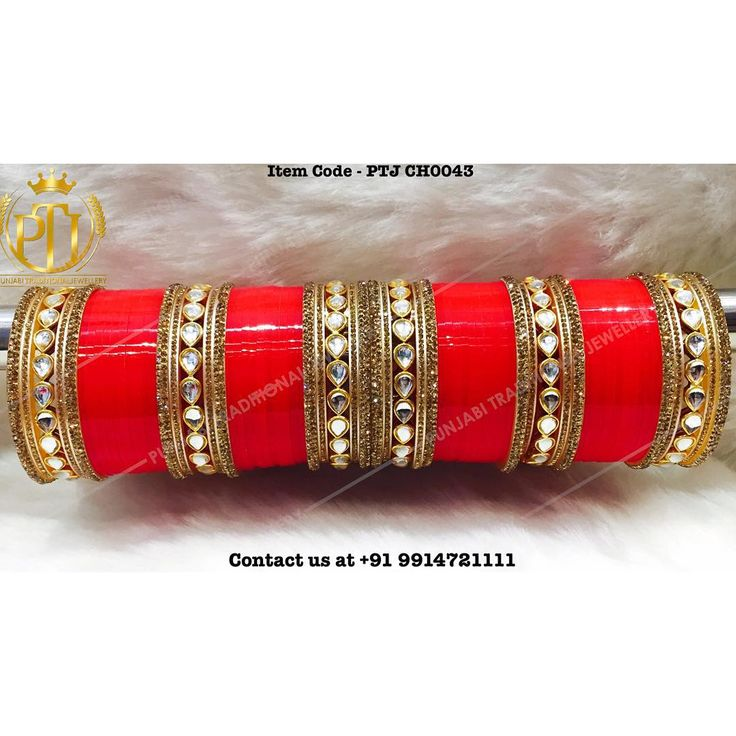 "Punjabi Traditional ""Kundan Red Wedding Choora"" #sydney #australia #america #canada #california #kuwait #dubai #london #england #india #italy #sikhwedding #bride #fashion #happy #jewellery #kundan #lehnga #love #newyork #NYC #punjabi #toronto #traditional #uk #us #usa #viah #sikhwedding"