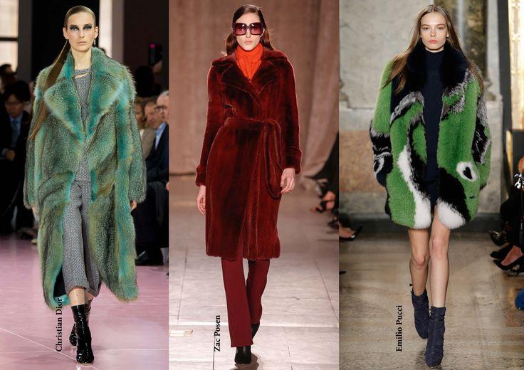 FW15 trends / Color faux fur / Női divat 2015 ősz tél / Színes műszőrme