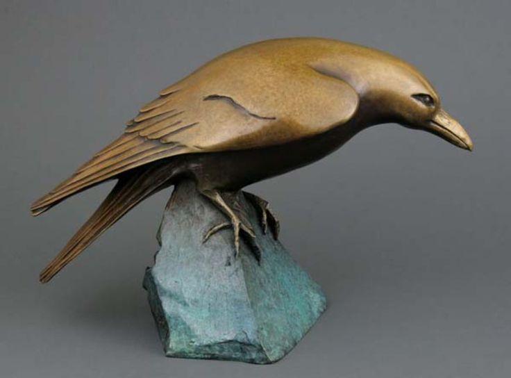 Beauty-Full Sculpture Portrait of Raven by Georgia Gerber