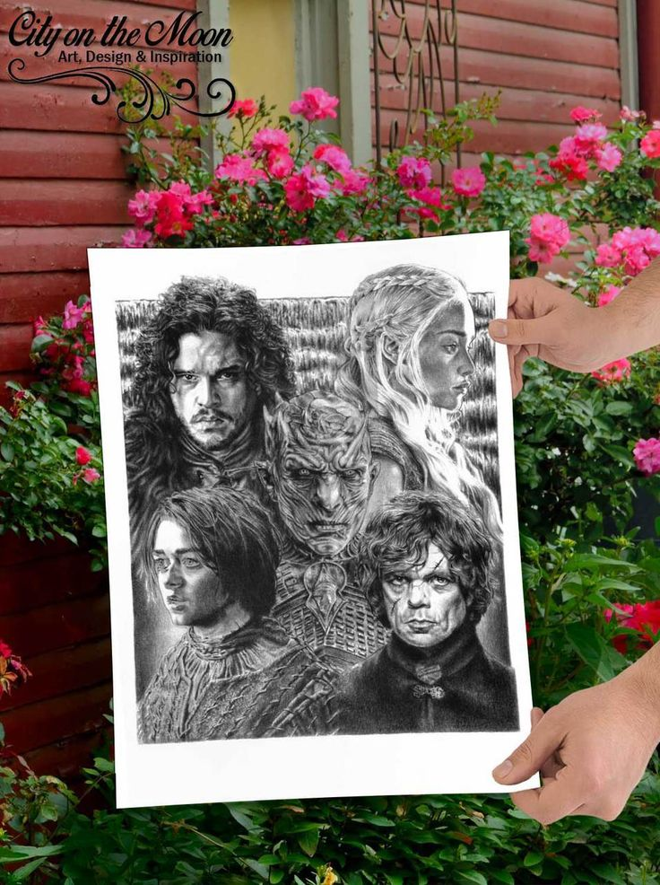 "COLLECTIBLE ITEM: Due to their limited nature, these Game of Thrones prints are a highly-collectible piece from artist Mike Duran. POSTER SIZE: 18"" x 24"" - Unlike other sketches that just offer you a picture-framed size print, these Game of Thrones original sketch prints come in full, poster-sized glory."