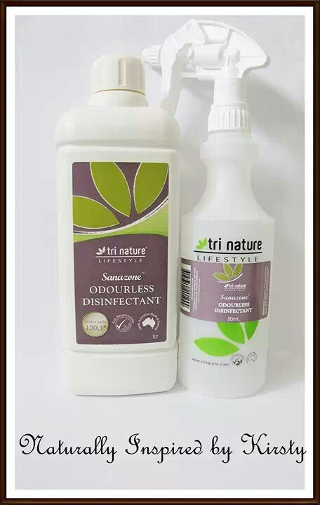 Sanazone Odourless Disinfectant -  A powerful, food safe disinfectant no harsh chemicals made from #natural ingredients, perfect for #asthma sufferers. Contact kr.malone@westnet.com.au www.beinspirednaturally.trinature.com www.facebook.com/naturallyinspiredbykirsty for more information