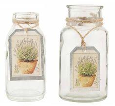 Frascos de perfume y botes de vidrio vintage