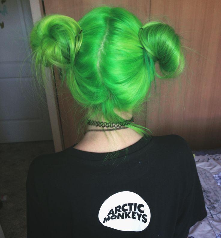 melhores ideias de cabelo verde