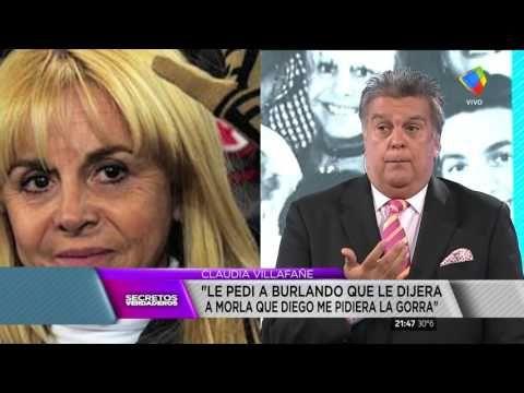 """Claudia Villafañe """"Cuando todo termine, van a saber quién dijo la verdad..."""