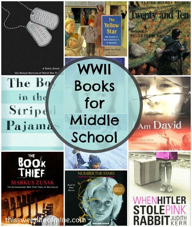 WWII Books for Middle School | thissweetlifeofmine.com
