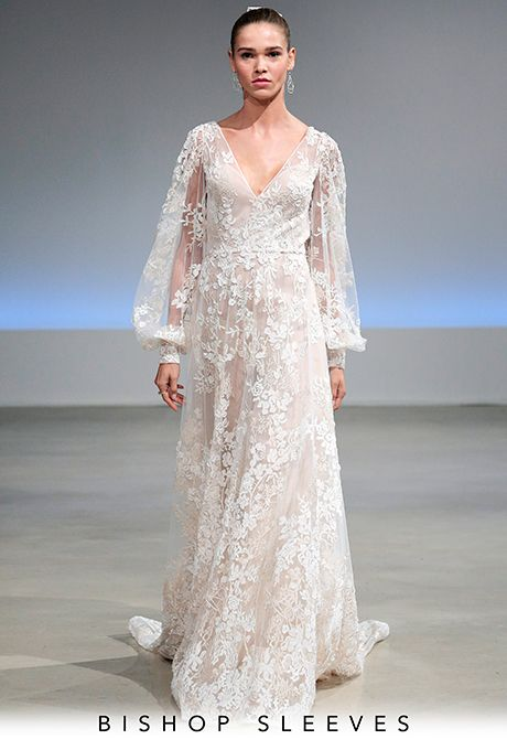 Brides.com: . Bishop Sleeves Wedding dress by Isabelle Armstrong