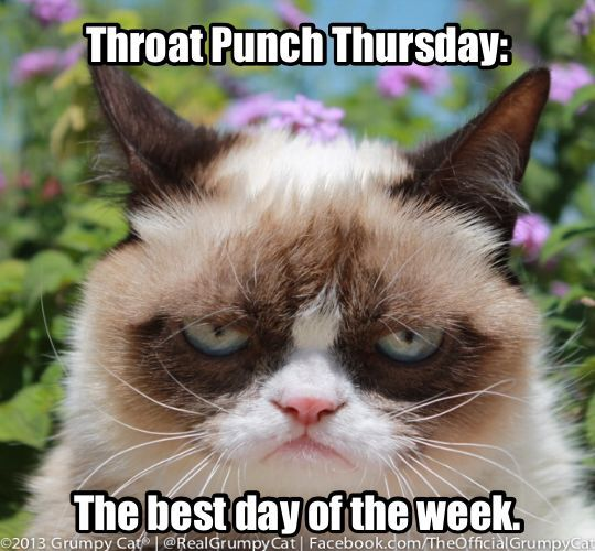 I love throat punch Thursday! Jeffrey