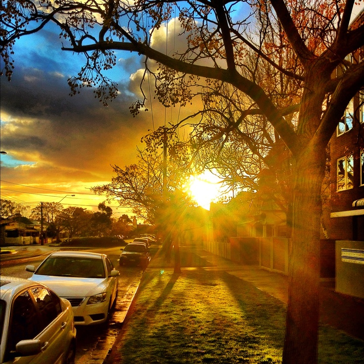 Sunset At The End Of The Street. #sunset #photography #iphone