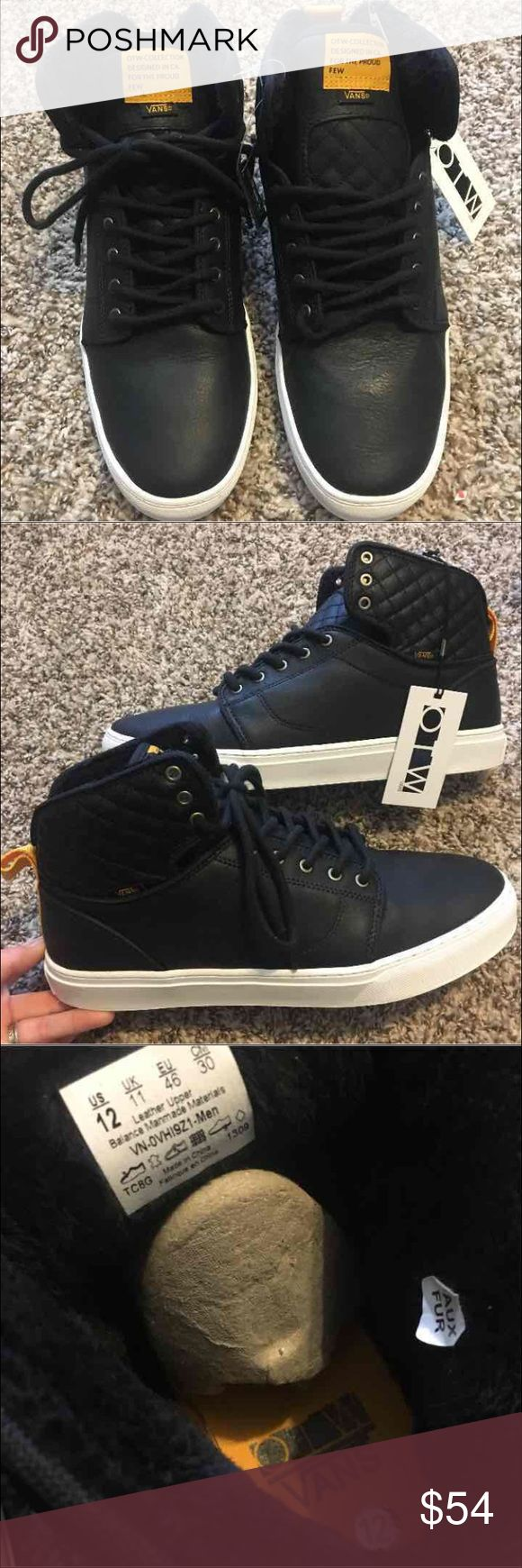 *NIB* RARE 👀 Vans Leather Alomar Hi Top OTW Never worn! Comes with original box! Real Leather. OTW Collection.  This is a dead stock item! No longer in production!  Originally $120!   55%OFF!   RARE FIND IN UNWORN CONDITION!   Price is negotiable to an extent! :)  Best offers only please!                                Check out the rest of my page for MORE Vans shoe Styles for sale! I love to bundle and save on shipping, comment to find out more! Vans Shoes