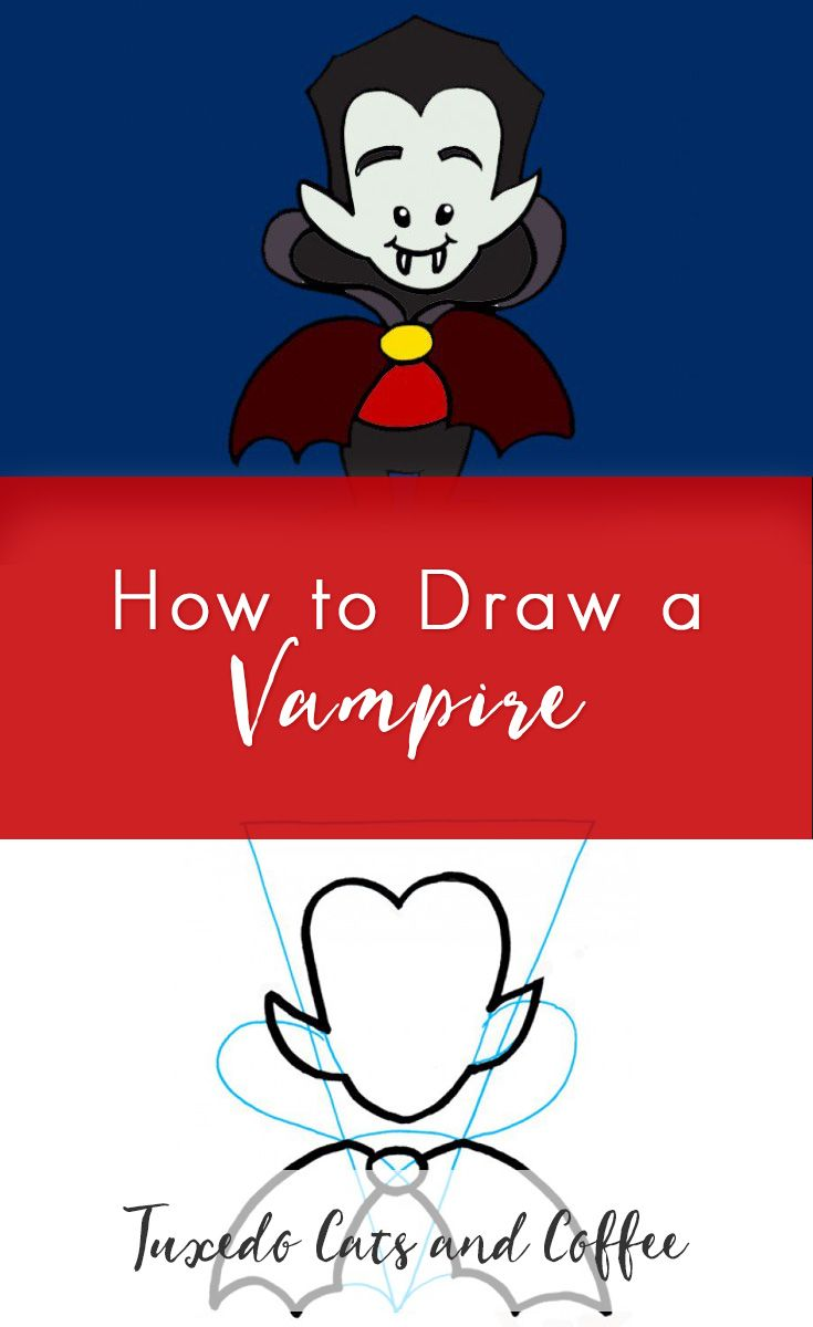 Learn how to draw a vampire in a cartoon style. Now you can draw fun characters and animals like this cartoon vampire, just in time for Halloween. Learn how to draw a vampire with our easy step by step guide.