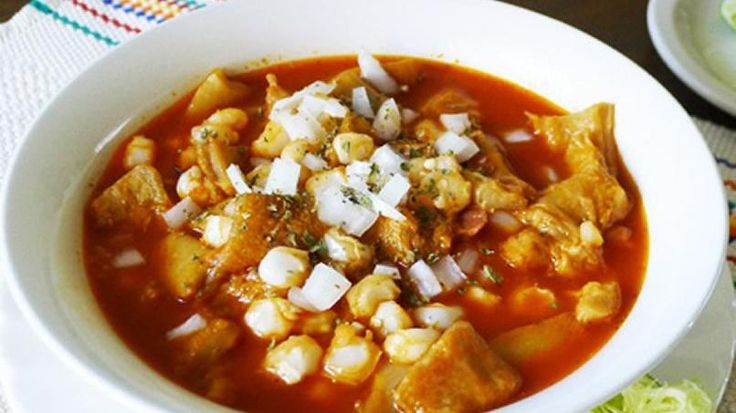 A party is not complete without a bowl of this spicy beef tripe and corn soup. Made with a base of dried red chili peppers in northern Mexico or in a clear broth known as menudo blanco in the states of Sonora and Sinaloa, this dish brings families together. This comfort delicacy is traditionally served in just about every Mexican celebration including weddings, quinceañera parties, baptisms and even New Year's.