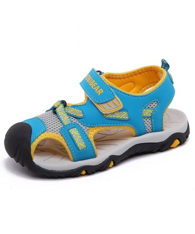 Boys Outdoor Closed-Toe Summer Sport Sandals - Blue/Orange - C218E5ERLQ8 |  Blue sandals, Sport sandals, Boys shoes
