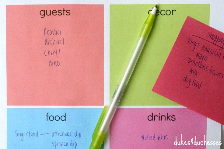 printable for party planning