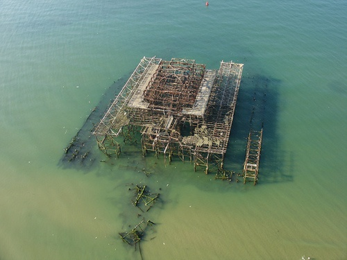 Aerial Photography of The West Pier, Kings Road, Brighton, East Sussex, BN1 2FL by aerialphotographyforyou, via Flickr