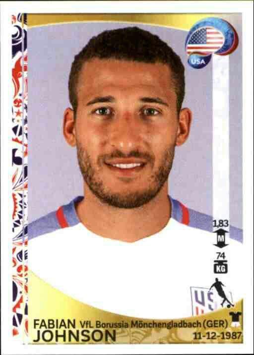 Fabian Johnson of the USA. 2016 Copa America card.
