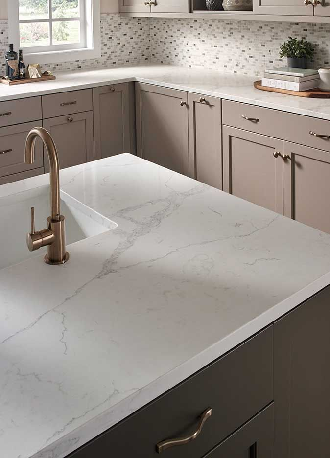 Kitchen Room Scene Statuary Classique Quartz Home Sweet