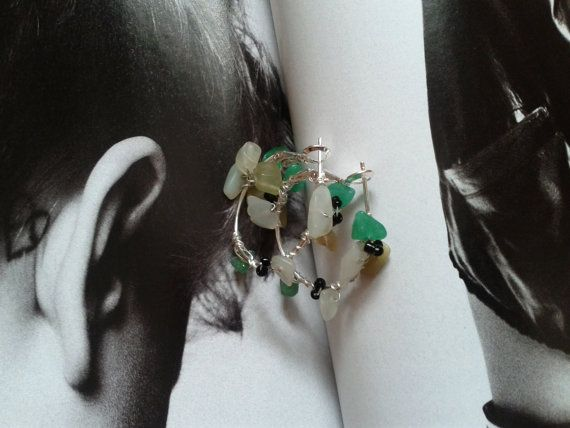 Green Flower Emerald Earring Ring sale was 14.50 by Girlscode, $10.95