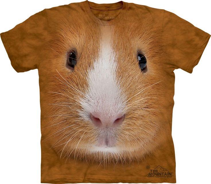 Big Face Guinea Pig T-Shirt - T-Shirt with Pets - Cute T-Shirts - Animals t-shirts for women - t-shirt present idea - small pet t-shirts - t-shirts with small pets for kids - kids clothing