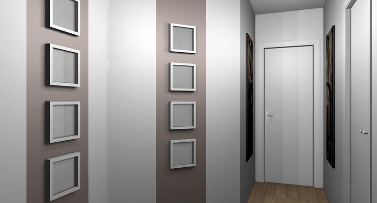Cadres des id es pour le couloir pinterest meilleures id es murs blancs couloir et bande for Peindre un mur de couleur dans une chambre