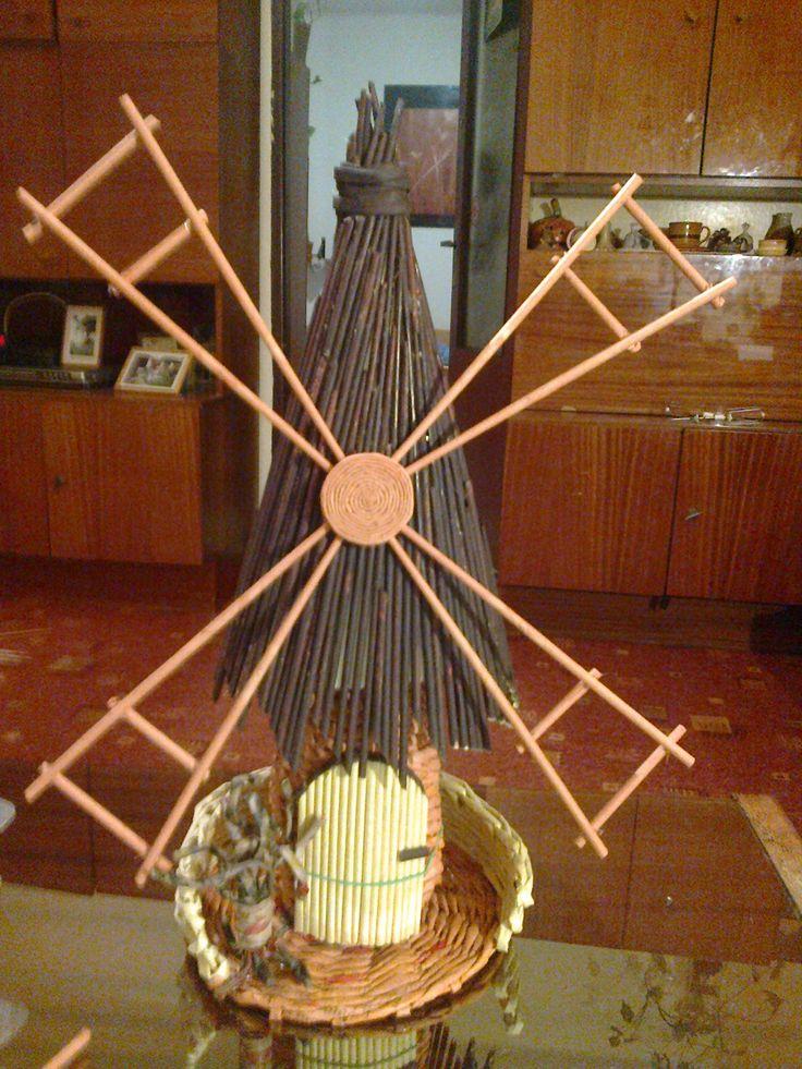 větrný mlýn - dárek pro mého kamaráda - uvnitř lahev slivovice :-)
