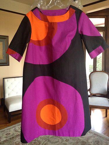 Vintage 60s Marimekko Shift Dress   eBay
