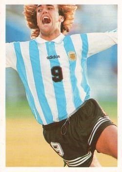 1998 Brooke Bond PG Tips International Soccer Stars #3 Gabriel Batistuta Front