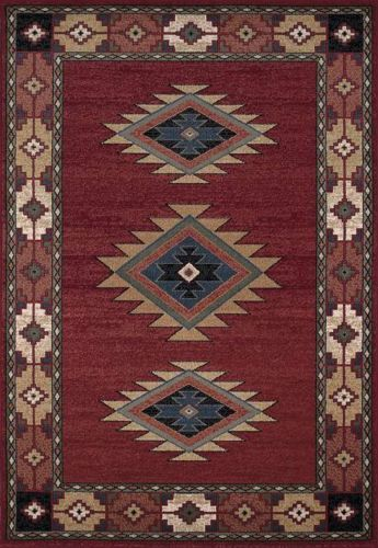 Dalyn An30 Red South Western Area Rug Approx 5 X 7