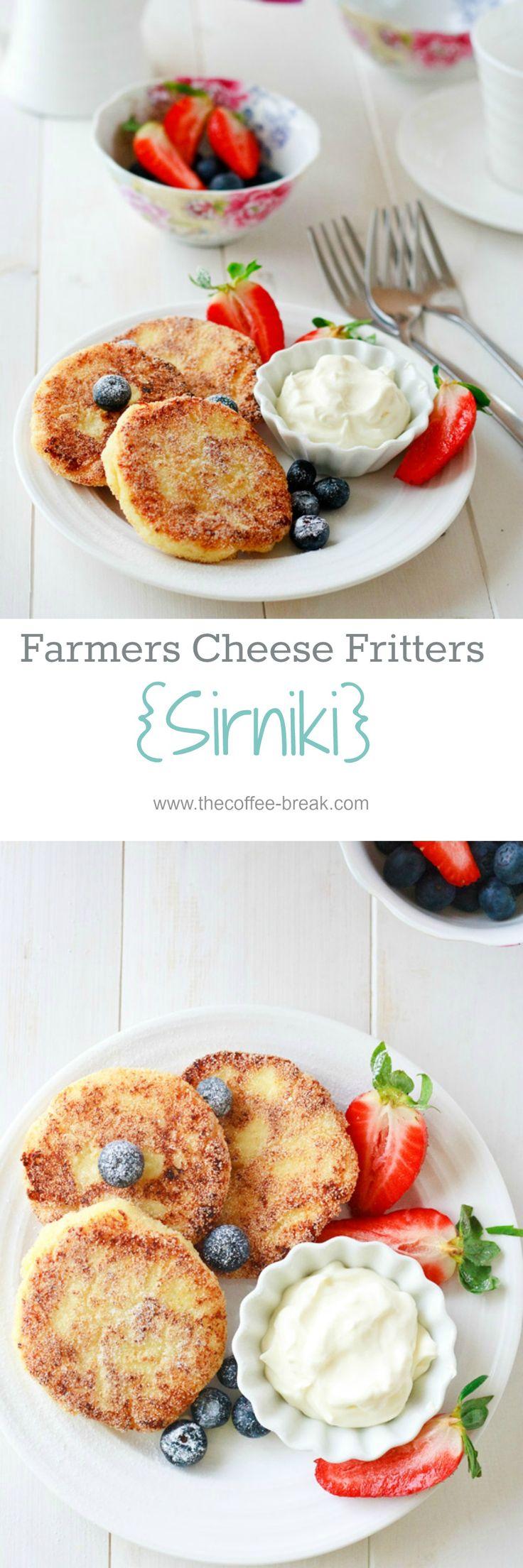 Farmers cheese breakfast fritters    recipe @ www.thecoffee-break.com