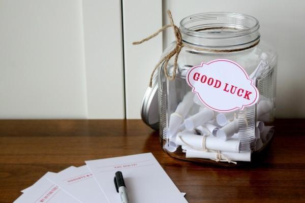 10 Creative DIY Ideas to Customize a Graduation PartyDiy Ideas, Luck Note, Cute Ideas, Grad Parties, Graduation Ideas, Parties Ideas, Jars, Party Ideas, Graduation Parties