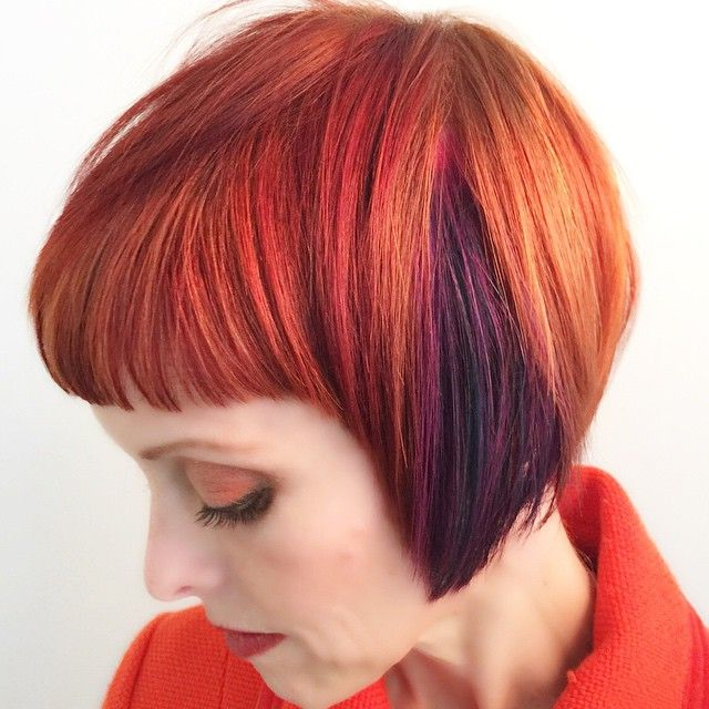 25 Glossy Orange Hair Color Ideas — From Bright Red Orange to Burnt Orange Check more at http://hairstylezz.com/best-orange-hair-color-ideas-red-orange-burnt-orange/