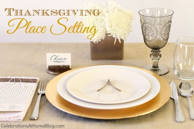 THANKSGIVING PLACE SETTING :: 5 SIMPLE ELEMENTS: Thanksgiving Table Settings, Thanksgiving Fun, Thanksgiving Places Sets, Simple Elements, Fall Thanksgiving, Fall Inspiration, Holidays Fun, Fallthanksgiv Parties, Thanksgiving Tables Sets
