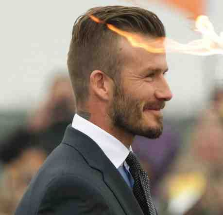 Undercut back view david beckham